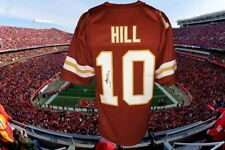TYREEK HILL AUTOGRAPHED CUSTOM RED KC CHIEFS JERSEY JSA AUTHENTICATED #WPP362720