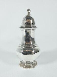 Antique Edwardian 1912 Sterling Silver Salt Pepper Pot Shaker Caster Mappin Webb