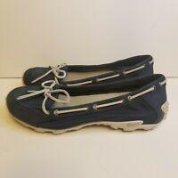 Merrell Womens Size 9 Ink Blue Marina Boat Shoes Vibram Non Marking Sole J76472