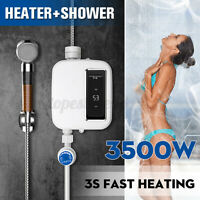 3500W Mini Tankless Electric Shower 3S Instant Hot Water Heater Bathroom  ⇝ g