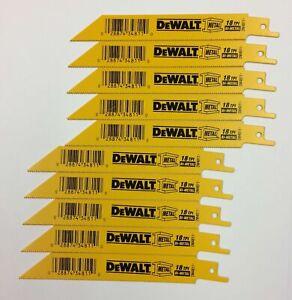 DEWALT DW4811  (10 pcs.) 6 INCH 18 TPI BI-METAL (USA) RECIPROCATING SAW BLADE