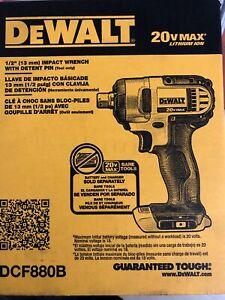 "DeWALT DCF880B 20V Li-Ion 1/2"" Cordless Impact Drill Bare tool NEW 2 DAY SHIP"