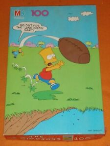 Vintage The Simpsons Homer Bart 100 Jigsaw Complete Puzzle
