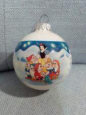 Vintage pallina Natale Christmas ornament resiglas Disney Biancaneve collezione