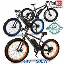 FAT BIKE WILDCAT Electric Bicycle 500W 48V e-bike 26 x 4.0 Lithium Power Assist