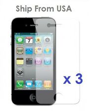 3 x New iPhone 4 /4S Anti-Glare Antiglare Screen Protector