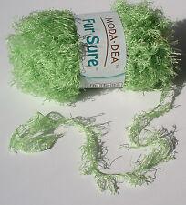 Yarn Fur Sure Valley Green 1 skein novelty knit embellish crochet