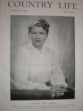 Printed photo Hon. Mary Lampson daughter Baron Killearn 1943