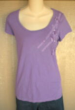 Old Navy M Purple Sequin Ribbon Embellished Tee T- Shirt Top