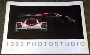 Vintage Classic PORSCHE 962 (1989?) Rothmans Grand Prix Supercar Wall POSTER