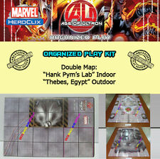 "MARVEL HEROCLIX AGE OF ULTRON OP KIT Mapa/Map ""Hank Pym's Lab"" / ""Thebes, Egypt"""
