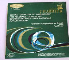 Chabrier  ESPANA  Paray/Detroit Symphony French MERCURY Import 1965  NM