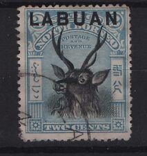 Labuan SG 90 Blue  1897 2c Deer  VFU