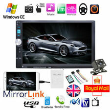 """7""""Double Din Car Radio Stereo Touch Bluetooth MP5 Player Head Unit FM USB+Camera"""