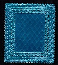 Doiley Blue Rectangle Paper Craft Frame Foil Decorative Dresden Germany Art