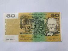 1990 Australian Fraser-Higgins 50 dollar note WBH 333781  Cond EF Plus (R512)