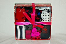 Womens Betsey Johnson 7 pack socks Nautical gift box set sailing