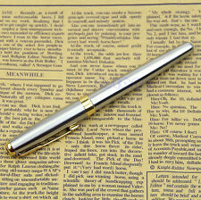 BAOER 388 Chic Stainless Steel Fountain Gold Trim M Nib Size Pen Silver