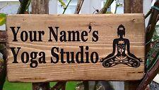Personnalisé yoga studio retreat chambre en bois mur signe plaque handmade namaste