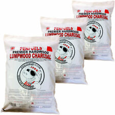 15kg Hardwood Lumpwood Charcoal for BBQ Barbecue and Grills (Three 5kg bags)