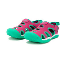 Keen Boys Stingray Walking Shoes Sandals - Green Pink Sports Outdoors Breathable