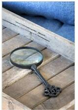 New listing Vintage Style Cast Iron Key Handled Magnifying Glass~Desktop Magnifier