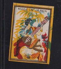 Ancienne   étiquette Allumettes Japon   AAA11066  Musique Femme Inde