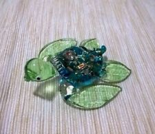 Sea Turtles Blown Glass Miniature Figurine Amphibian Animals Crystal Blue Color