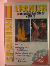 Spanish CD Intensive Language Course (4xCDs ~ Coursebook ~ Table of Grammar) New