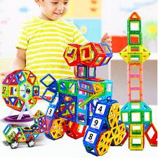 76Pcs DIY 3D Multicolour Magnetic Blocks Construction Building Kids Toy Puzzle B
