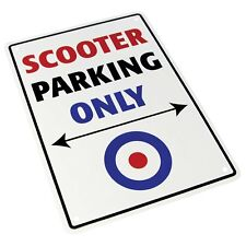 Motorcycle Bike It Novelty Slogan Parking Sign - Scooter Parking Only SIG009 T