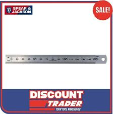 "Spear and Jackson Rule Stainless Steel - Ruler 15cm 150mm 6"" - SJ-SSR150"