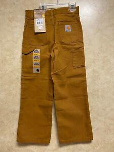 Carhartt Boy's Carpenter/Cargo Pants 100% Cotton (Size-6) Adjustable Waist NWT