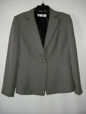 Tahari Arthur S Levine Black Gray Fully Lined Suit Jacket 10