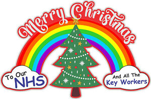 Merry Christmas to NHS & Key Worker Sticker - Spread Festive Joy Lockdown