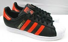 NWOB Adidas Superstar B41994 Men 8.5 M Black/Red Leather Shell Toe SneakerShoes
