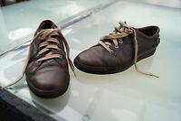 PAUL GREEN Damen Schuhe Schnürschuhe Sneaker Gr.40 braun Leder