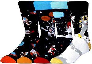 Men's Funny Cozy Dress Cotton Socks for Men Novelty Crazy Crew Socks Size 7-12