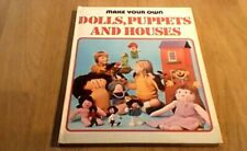 MAKE YOUR OWN DOLLS, PUPPETS AND HOUSES Purnell 1st UK ONLY HB ANNUAL 1975 CRAFT
