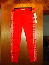 Rich & Skinny Orange Tie Dye Jeans 27 NWT $141