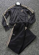 Vintage Adi Pure Black & Gold RUN DMC 1999 Clima 365 pour Femme Survêtement Taille 36