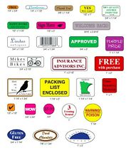 10,000 Printed Labels Custom Small Rectangle Round Square Oval Business Stickers
