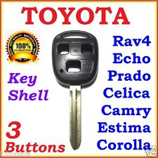 Toyota Remote Key Shell / Case Corolla Camry Prado RAV4 Echo Estima 3 Button