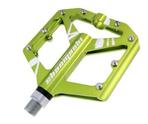 Aluminum Road MTB Mountain Bicycle Bike Pedal Bearing Flat-Platform Pedals Green