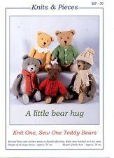 Un poco de abrazo de oso-KP-30 knits y piezas de punto & Sew patrón-no finalizado Osos