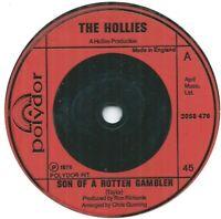 "The Hollies – Son Of A Rotten Gambler 7"" Vinyl 45rpm Ex Condition"