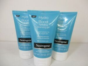 3 NEUTROGENA HYDRO BOOST HYDRATING CLEANSING GEL 2 OZ EA EXP 11/22 JL 11947