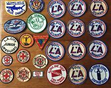 Lot Of 25 Original Vintage 50's-60's Life Saving/Scuba Cloth Badges/patches