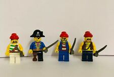 Lego Pirate MiniFigures Pirates Captain Hook Flag Weapons Lot X 4