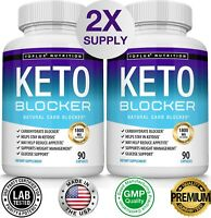 Keto Diet Blocker Pills 1800 MG (2 PACK) Fat Burner Carb Blocker & Weight Loss